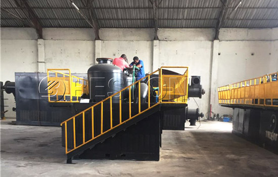 Beston Fully Continuous Tyre Pyrolysis Plantin Installed in South Africa
