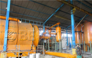Beston Small Waste Tyre Pyrolysis Plant in Indonesia