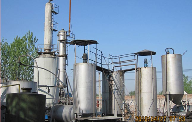 Refining Oil From Waste Tyres
