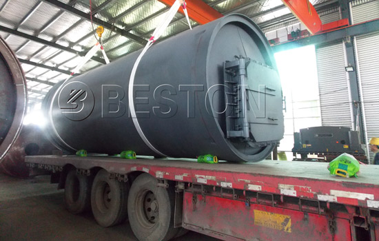 Shipment of Beston Small Waste Tire Recycling Plant to South Africa