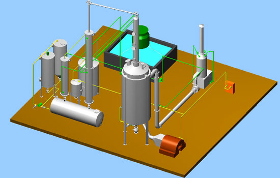 Waste Motor Oil Distillation Machine