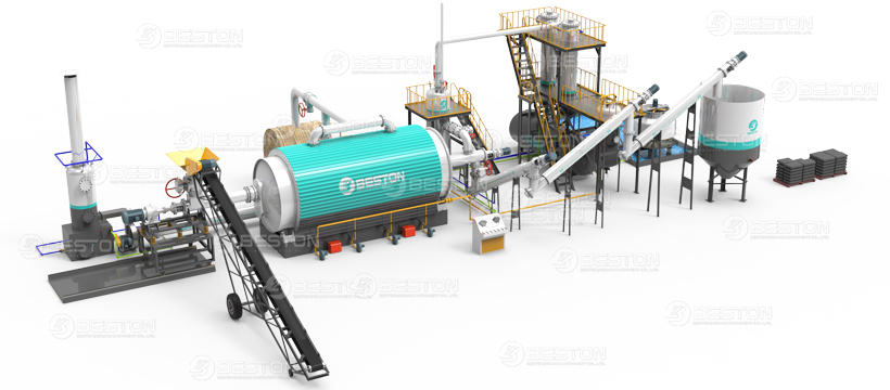 Beston Tyre Pyrolysis Plant in India