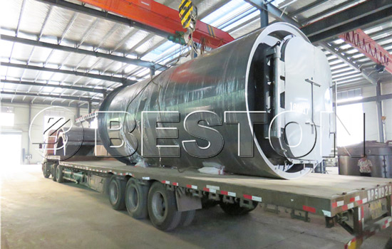Beston Waste Tyre to Fuel Recycling Plant Shipped to South Korea