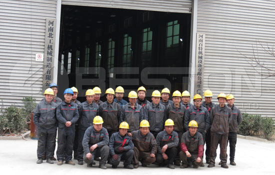 Professional Team in Beston Manufacturing Plant