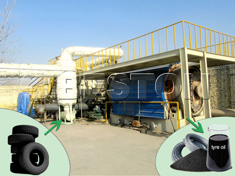 Beston Waste Tyre Oil Plant for Sale