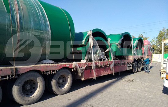 Shipment of Waste Tyre Recycling Plant for Sale to Canada