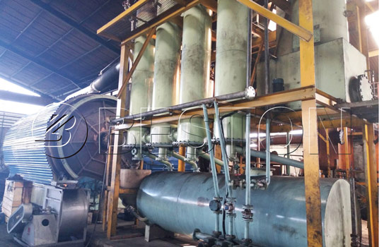 Affordable Beston Tyre Pyrolysis Plant Installed in Indonesia