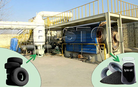Beston Pyrolysis Machine-Tyre Recycling into Fuel Oil