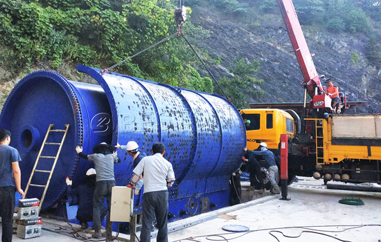 Beston Hot Tyre into Fuel oil Machine Installed in South Korea