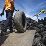 Recycled tyre rubber hits the road