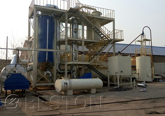 Tyre To Diesel Recycling Plant