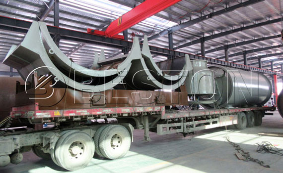 BLJ-10 Pyrolysis Plant Was Shipped To The Netherlands