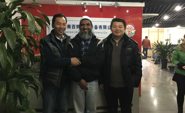 Bangladesh customer came to visit Beston Machinery for cooperation details yesterday