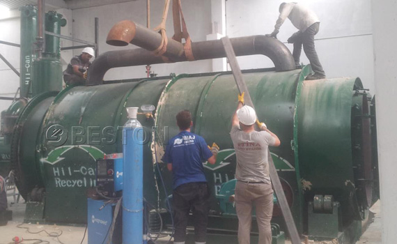 Pyrolysis Machine Was Installed In Turkey