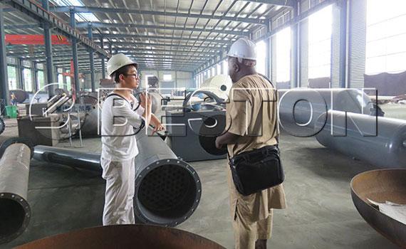 Senegal Customer Came To See Beston Pyrolysis Equipment