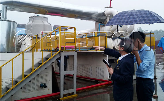 South Korean customers saw the continuous-pyrolysis plant