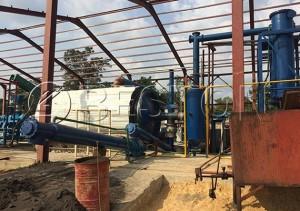Beston semi-automatic pyrolysis plant