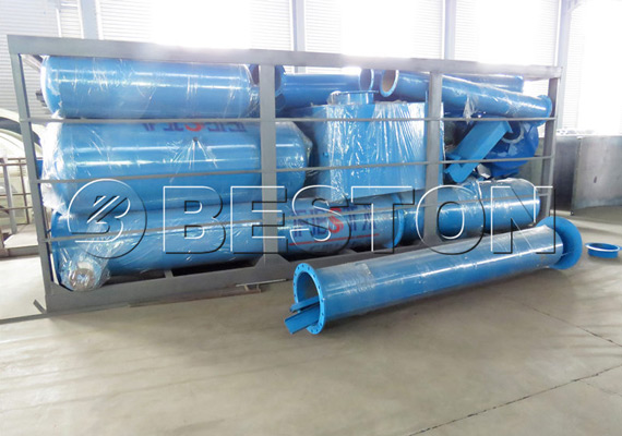Components of waste pyrolysis plant