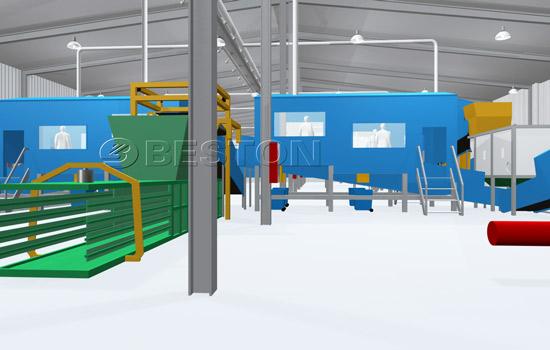 Beston Waste Sorting Machinery - 3D Model