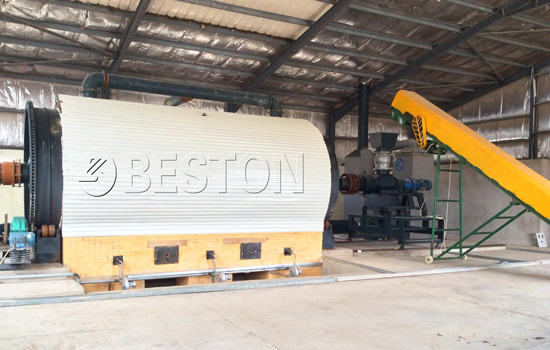 Beston Pyrolysis Machine Assembled in Jordan
