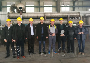 Romanian customers come to China to visit the Beston Pyrolysis Plant