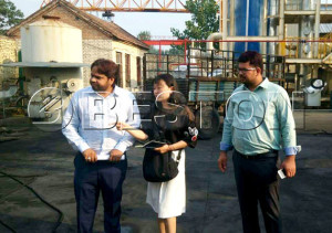 The Two Indian Customers Came to Visit Our Pyrolysis Plant