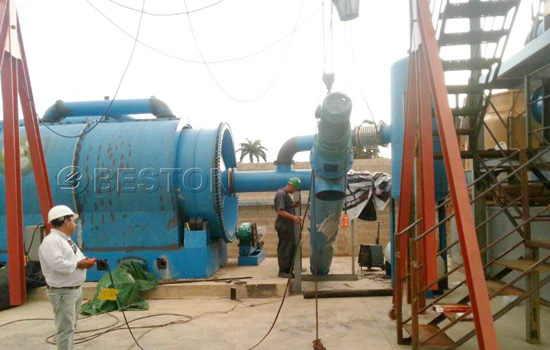 BLJ-10 Beston Pyrolysis Machine Installed in Dominican