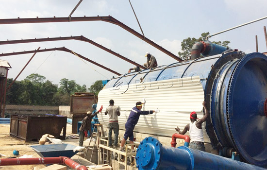 BLJ-16 Beston Pyrolysis Equipment Assembled in Nigeria