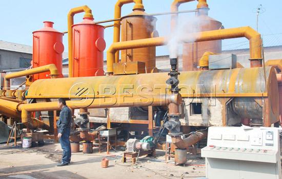 Biomass carbonization plant