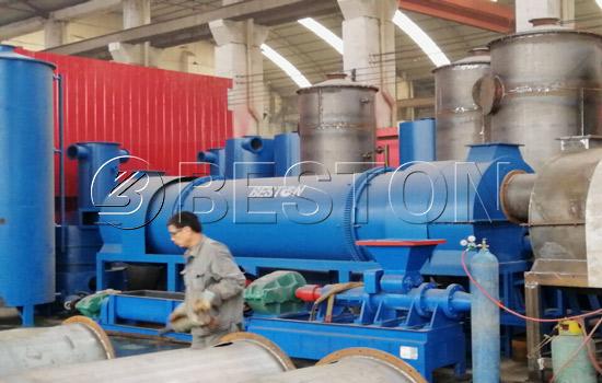Biomass charcoal making machine installation for Netherlands customer