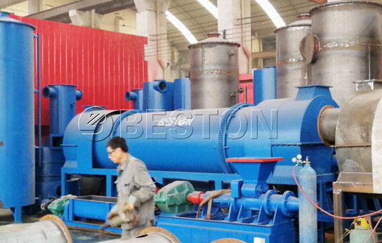 Continuous rice hull carbonizer machine