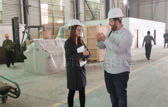 Egypt customer were learning about Beston machine on 26th April