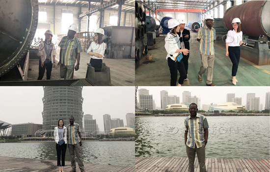 Nigeria Customer visited Beston Machinery and Zhengzhou CBD