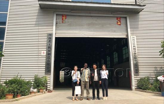 Nigeria Customer visited pyrolysis plant