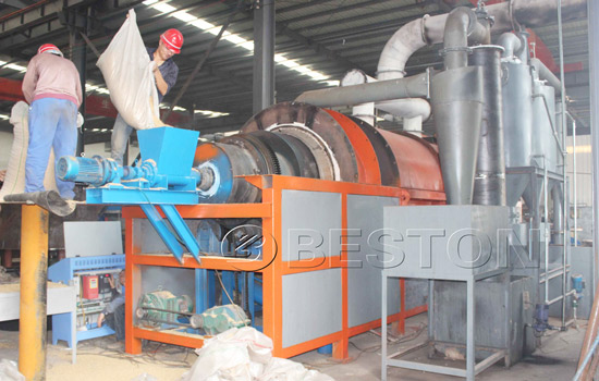 Rice husk charcoal machine