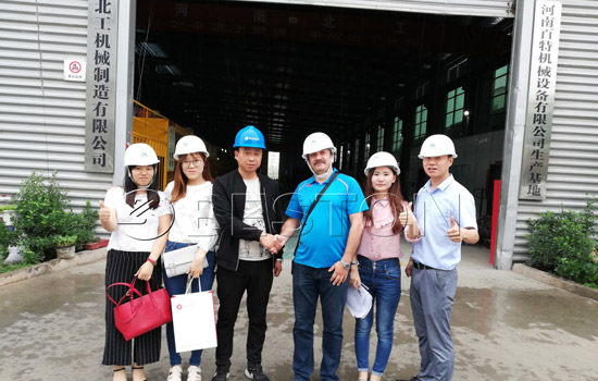 Russian customer paid a visit to see pyrolysis machine BLJ-6