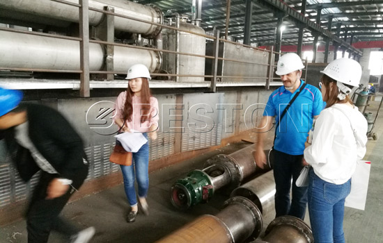 Russian customer visited Beston pyrolysis plant