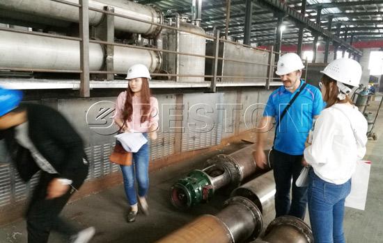 Russian customer visited Beston pyrolysis plant
