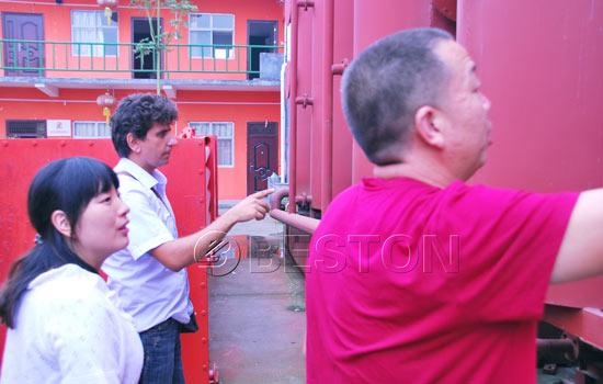 Tunisia customers visit Beston sawdust machine plant