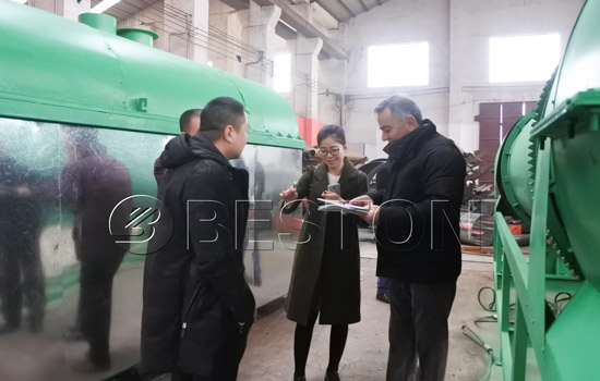 Tunisia customers were visiting Beston charcoal machine industry