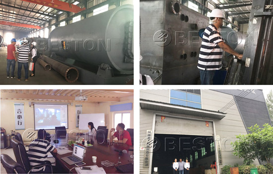 Indian Customer Visited Beston Pyrolysis Machine Manufacturing Plant on 9th July, 208
