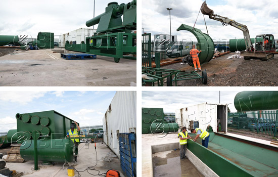 Installation Process of Beston Tyre Pyrolysis Machine in England on July, 2018