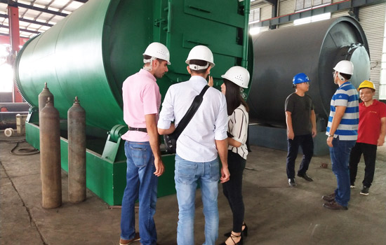 Lebanon Customers Visited Pyrolysis Equipment in August, 2018