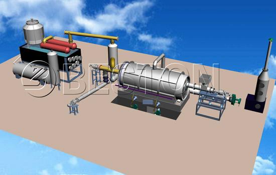BLJ-6 Beston Small Plastic Recycling Plant-3D Model