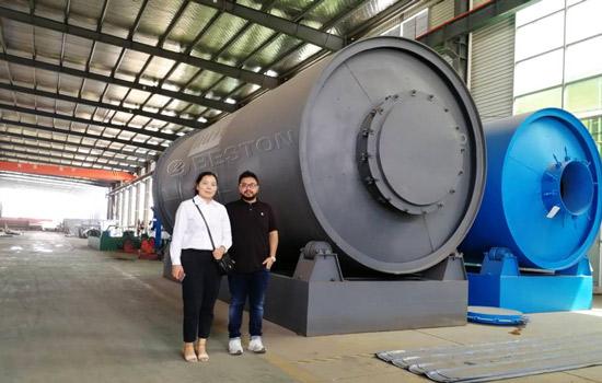Bangladesh Customer Visited Beston Pyrolysis Plant