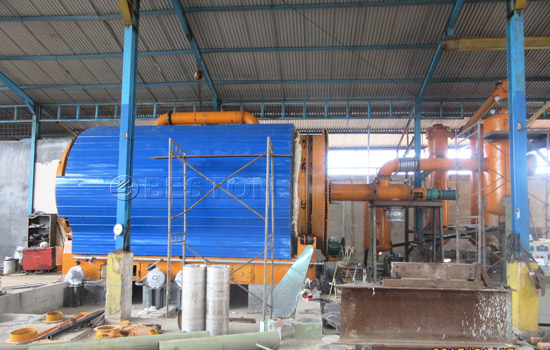 Beston Small Scale Plastic Pyrolysis Plant for Sale Installed in Indonesia