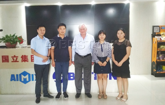 Holland Customer Visited Beston Machinery for Pyrolysis Machine in August, 2018