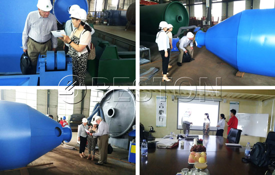 Holland Customer Visited Beston Pyrolysis Plant in August, 2018
