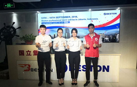 Visit of Beston Group to Indonesia in September, 2018