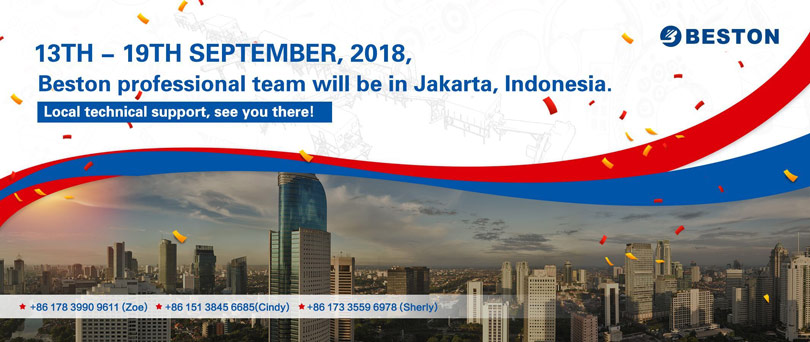 Visit of Beston Machinery to Indonesia in September, 2018